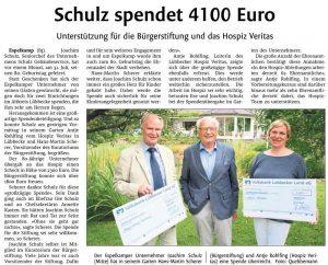 Schulz spendet 4.100 Euro